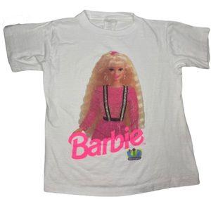 Vintage 90s Barbie girls t shirt XL single stitch